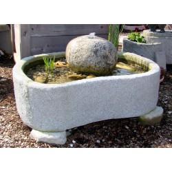 Miniteich mit Quellfindling Granitwerkstein