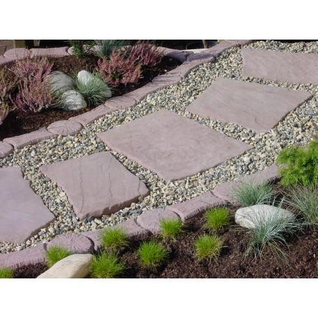 polygonale Platten Werksandstein rötlich-braun
